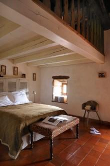 chambre Terrier des Lapins, hotel Les Deux Abbesses, Saint-Arcons-d Allier, gorges de l Allier, Haute-Loire, Auvergne, France